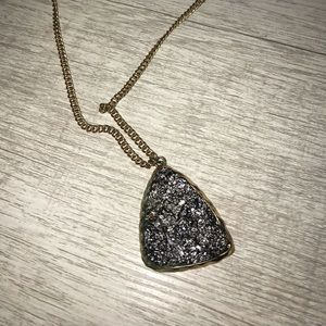 Uncut Stone Necklace
